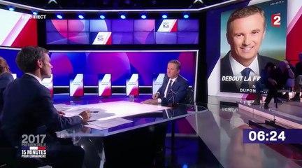 Nicolas Dupont-Aignan invité dans 15 minutes pour convaincre - France 2