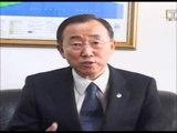 Rencontre de Ban Ki Moon avec le personel l`ONU en Cote d`Ivoire