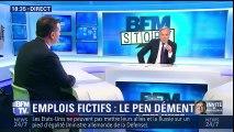 Soupçons d'emplois fictifs au Parlement européen Marine Le Pen dément