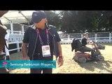 Sara Morganti - Mounting the horse, Paralympics 2012