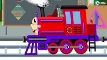 Learn with the Train - Cartoon about Cars & Trains - Learn Numbers & Shapes - Trains cartoons