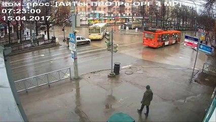 Russian Rolling Along in Huge Hamster Wheel
