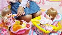メルちゃん ネネちゃん いっしょにおうちでごはん食べたよ ベビーカーで散歩もしたよ お世話ごっこBaby Doll Mell-chan Baby Stroller & Tent House
