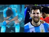 Lionel Messi spotted crying after Argentina loses Copa America 2016 finals | Oneindia News