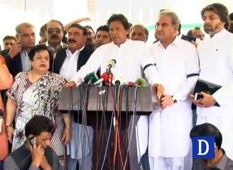 Imran Khan Media Talks Outside NA