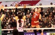 佐藤美弥選手(Miya Sato)と鳥越選手のアタック三連発【Vプレミアリーグ゙オールスターゲーム】2017.3.25深谷ビッグタートル