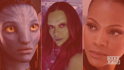Is it just us or is there a rule now that any sci-fi blockbuster must co-star Zoe Saldana?