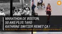 Marathon de Boston, 50 ans plus tard Kathrine Switzer remet ça !