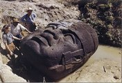 Ancient Civilization - The Olmec (Giant colossal stone heads)
