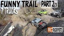 Franchissement 4x4 6x6 Rigolo Hilarant  Trail 7 Scale Canyon Dunes Falaises Pentes Part2