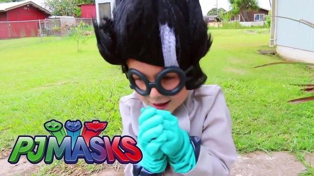 PJ Masks IRL Superheroes Catboy Gekko FOOD FIGHT + PJ MASKS IRL Go To Jail Prison Episodes