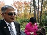 Aruna & Hari Sharma in Parc of the Kabir Kouba Cliff and Waterfall Wendake, Quebec, Canada Oct 2, 2012