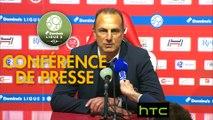 Conférence de presse Stade de Reims - Nîmes Olympique (1-1) : Michel DER ZAKARIAN (REIMS) - Bernard BLAQUART (NIMES) - 2016/2017