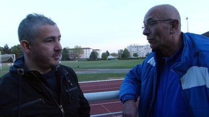 UGA LYON-DECINES SENIORS1 - VILLEFRANCHE FC 1 - 2  LE OFF d'après-match du 22 avril 2017. Tarek Bouabdellah, entraîneur Séniors1 et responsable du football à 11.