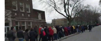 French Voters in Montreal Queue Around the Corner to Cast Ballot
