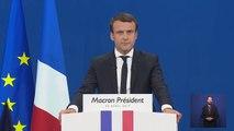 Le discours d'Emmanuel Macron après les résultats du 1er tour