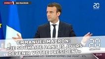 Emmanuel Macron : «Je souhaite dans 15 jours  devenir votre président»