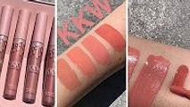 Kylie Jenner | Kim Kardashian Collaboration with Kylie Cosmetics ( KKW lip kit Swatches )