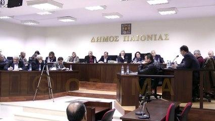 Δημοτικό Συμβούλιο Δήμου Παιονίας 15-03-2016