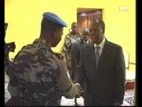 Audience du President Ouattara au général de division Gnakoudè Béréna (Onuci)