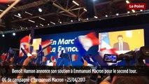 Réaction des militants d'En Marche quand Benoît Hamon annonce son soutien à Emmanuel Macron
