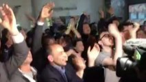 23 avril 2017 : ambiance de fête au QG d'Emmanuel Macron à Lyon
