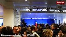 Les militants Les Républicains en attente du discours de François Fillon