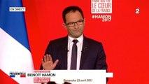 Présidentielle 2017  - Discours de Benoît Hamon suite aux estimations de résultat du premier tour