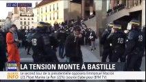 """A Bastille, des centaines de jeunes tentent d'organiser une """"nuit des barricades"""" après les résultats du 1er tour"""