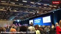 La joie des militants d'En Marche quand François Fillon annonce son soutien à Emmanuel Macron