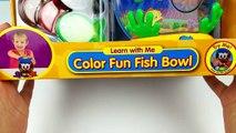 Apprentissage Mer animaux enfants Apprendre les couleurs enseigner couleur amusement poisson Bol tout petit bébés jouets