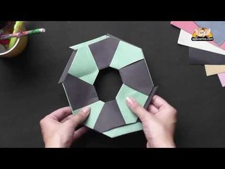 Origami in Marathi - Learn to make 8 Point Star