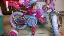 Great Birthday & Christmas Present - 12 Huffy Disney Princess Girls Bike with Royal Doll C