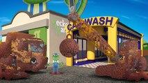 Et voiture nettoyage boueux camions Véhicules lavage Construction |