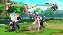 Naruto Ultimate Ninja Storm 2 MOD - Hokage Naruto & Sakura vs Kakashi Boss Battle Chare