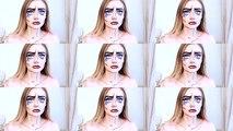 Fille maquillage sur Halloween maquillage  