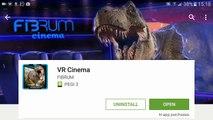 Aplicación cine versión parcial de programa para Jugador vídeo visto vr