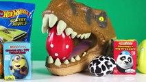 Et dinosaure Oeuf amusement amusement géant jurassique ouverture jouet déballage monde Surprise indominus rex t-rex