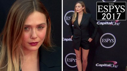 Elizabeth Olsen Stuns Flaunting LEGS At 2017 ESPY Awards Red Carpet