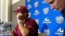 Jimbo Fisher post game press conference FSUs 45 34 win over Ole Miss