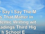 Read  They Say  I Say The Moves That Matter in Academic Writing with Readings Third High ab98447d
