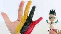 La famille doigt masques Dans le dessins animés sur russe les doigts de la famille masqués héros Pj développement de lenseignement