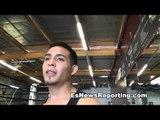 Eduardo Valenzuela on sparring tyson marquez