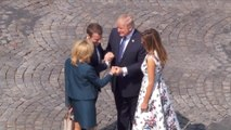 President and Melania Trump bid farewell to the Macrons as Paris trip concludes
