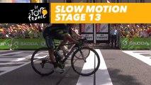 L'arrivée au ralenti / Finish in slow motion - Étape 13 / Stage 13 - Tour de France 2017