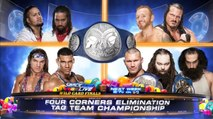 The Wyatt Family vs The Usos vs Heath Slater & Rhyno vs American Alpha, Four Corners Elimination Match Smackdown Tag Team Championship (Smackdown Live Wild Card Finals)