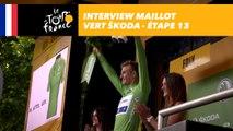 L'interview du maillot vert ŠKODA - Étape 13 - Tour de France 2017