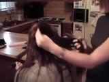 Un et un à un un à Coupe foncé de cheveux la Coupe de cheveux longue Court à Il