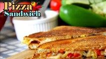 Pizza Sandwich Recipe - Easy Sandwich Recipes - Quick Breakfast Recipes - kids Tiffin box