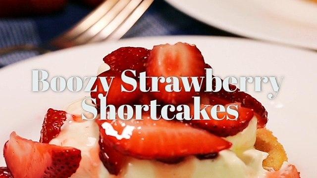 Boozy Strawberry Shortcakes - Liquor.com